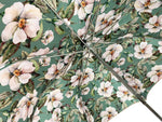 Load image into Gallery viewer, Exclusive light green flowered design - IL MARCHESATO LUXURY UMBRELLAS, CANES AND SHOEHORNS