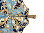Load image into Gallery viewer, Fantastic blue with chains design - IL MARCHESATO LUXURY UMBRELLAS, CANES AND SHOEHORNS