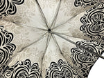 Load image into Gallery viewer, Damask Black and white with hundreds of crystals - IL MARCHESATO LUXURY UMBRELLAS, CANES AND SHOEHORNS