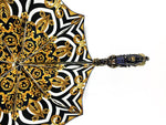Load image into Gallery viewer, Exclusive handle with 24K golden scorpion and embellished with sapphire crystals - IL MARCHESATO LUXURY UMBRELLAS, CANES AND SHOEHORNS