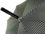 Load image into Gallery viewer, Double Cloth Men's Black Striped Umbrella - il-marchesato