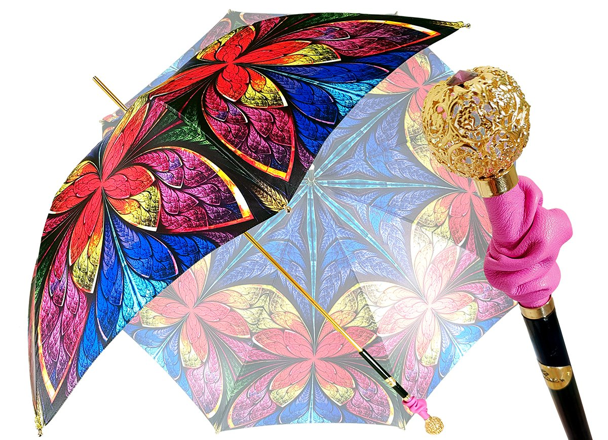 Wonderful Handmade Women's Umbrella - Exclusive Floral Design - il-marchesato