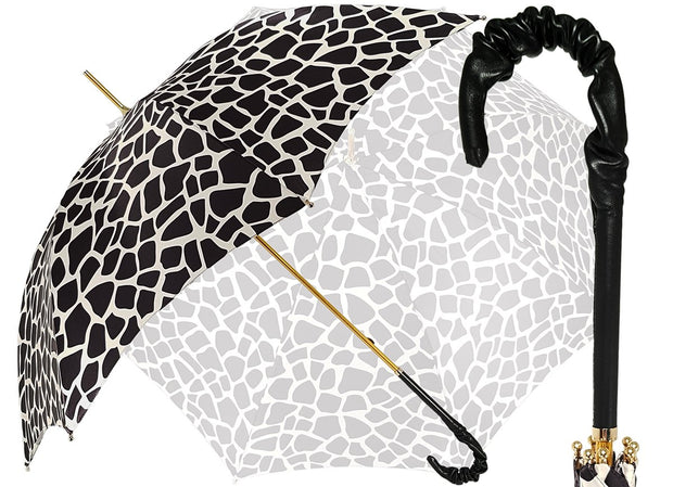 Black and White - Classic Woman's Umbrella - il-marchesato