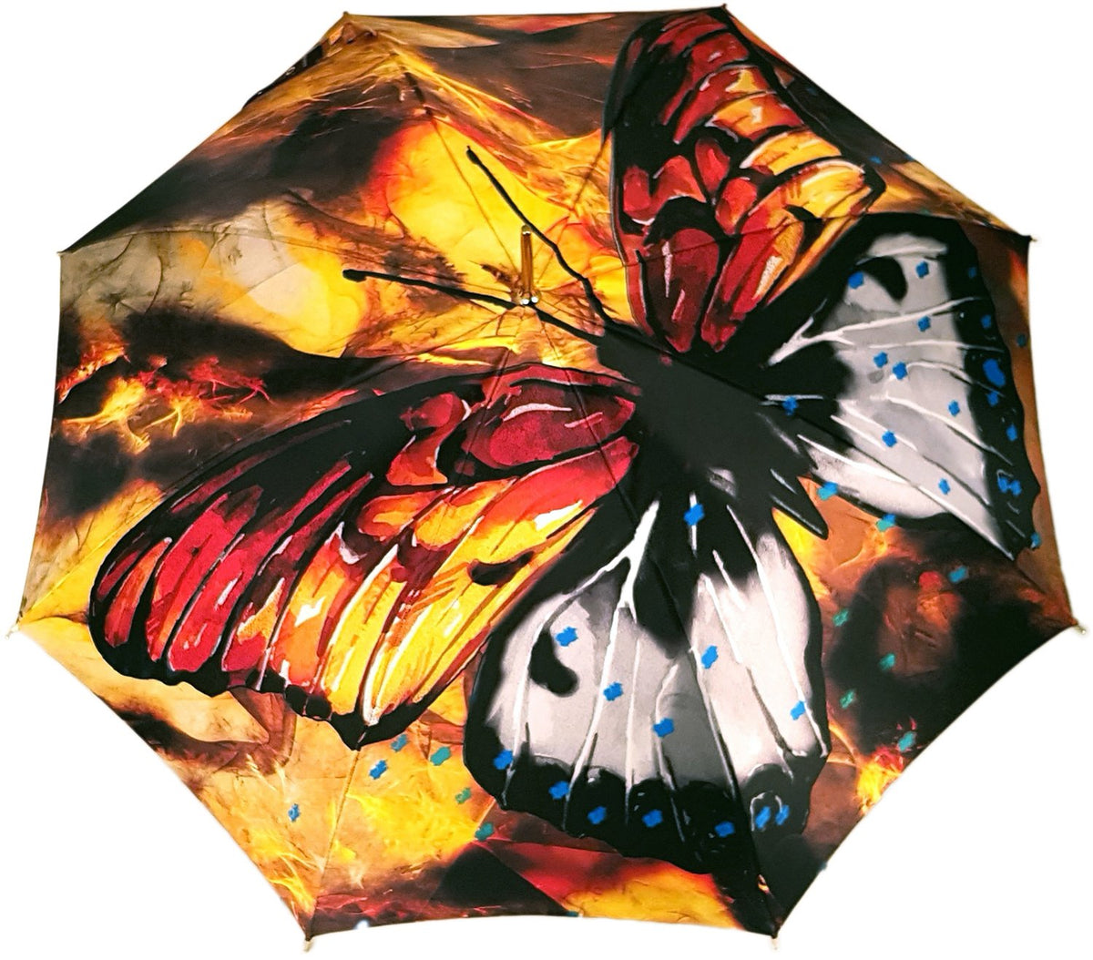 Big Butterfly Painted Umbrella
