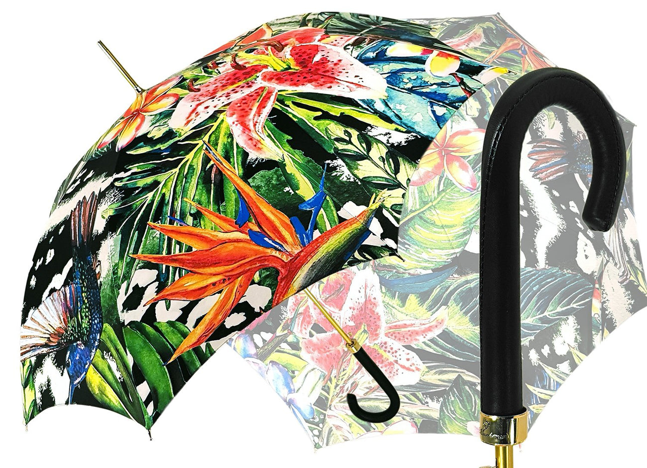 LUXURY PAINTED FLOWER DESIGN UMBRELLA MARCHESATO