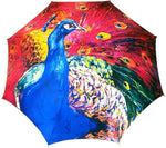 Load image into Gallery viewer, Peacock Painted Umbrella - il-marchesato