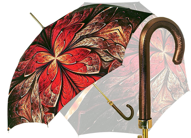 Special Red Abstract Umbrella - il-marchesato