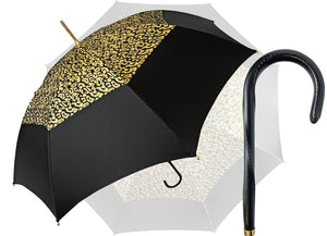 New Gold Lurex Fabric Women's Umbrella - il-marchesato