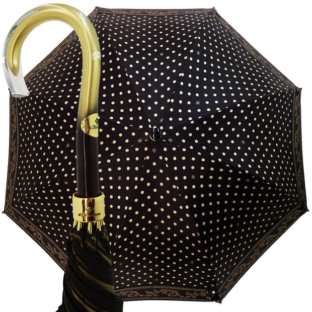 Wonderful Black Polka Dot Umbrella - il-marchesato
