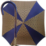 Load image into Gallery viewer, Original Handcrafted Umbrella with golden Greek design - il-marchesato