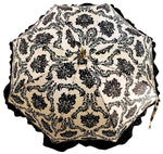 Load image into Gallery viewer, Black & White Ruffle Umbrella Italian Glamour - il-marchesato