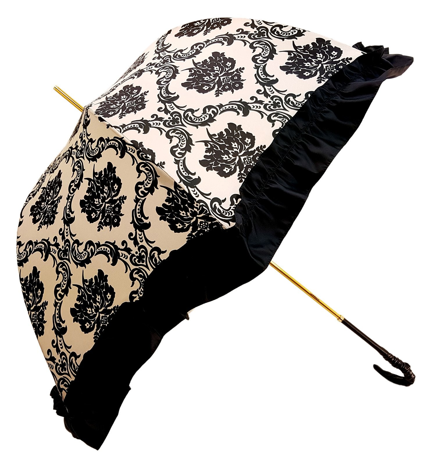Black & White Ruffle Umbrella Italian Glamour - il-marchesato