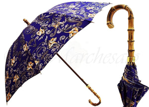 New Floral Umbrella Pattern with Bamboo Handle - il-marchesato
