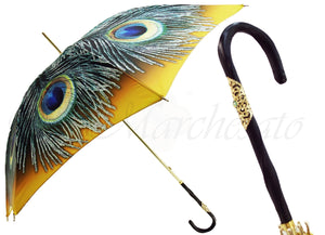 Women's Luxury Peacock Umbrella - il-marchesato