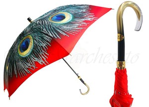 Nice Umbrella With A Lovely Peacock Design - il-marchesato
