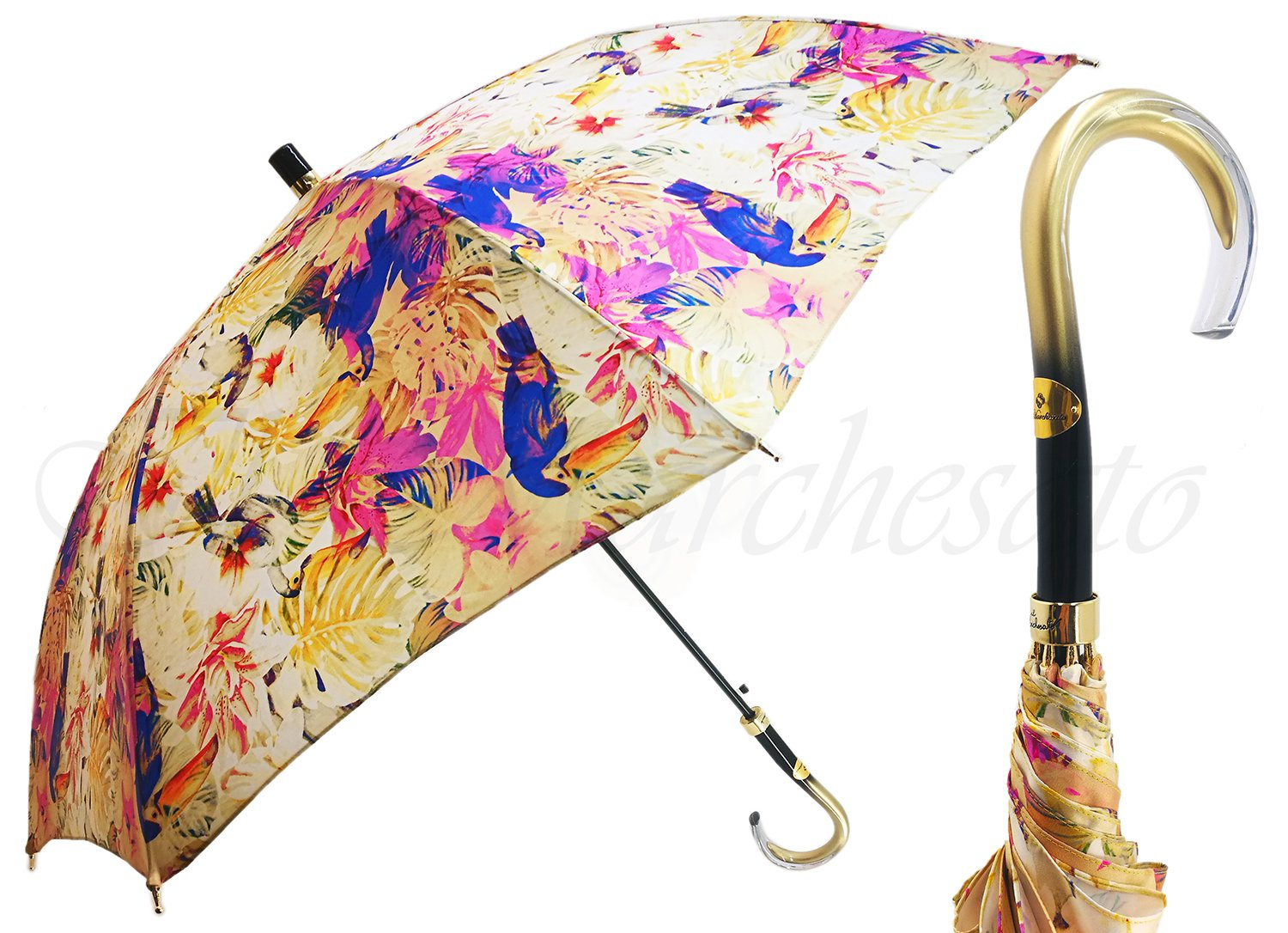 Beautiful Ladies Umbrella With Toucan Design - il-marchesato