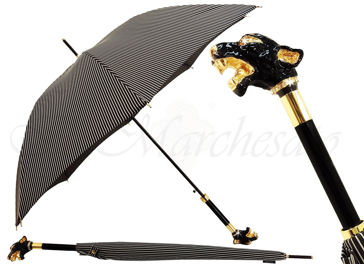 Luxurious Enameled Dog Luxury men's Umbrella - il-marchesato
