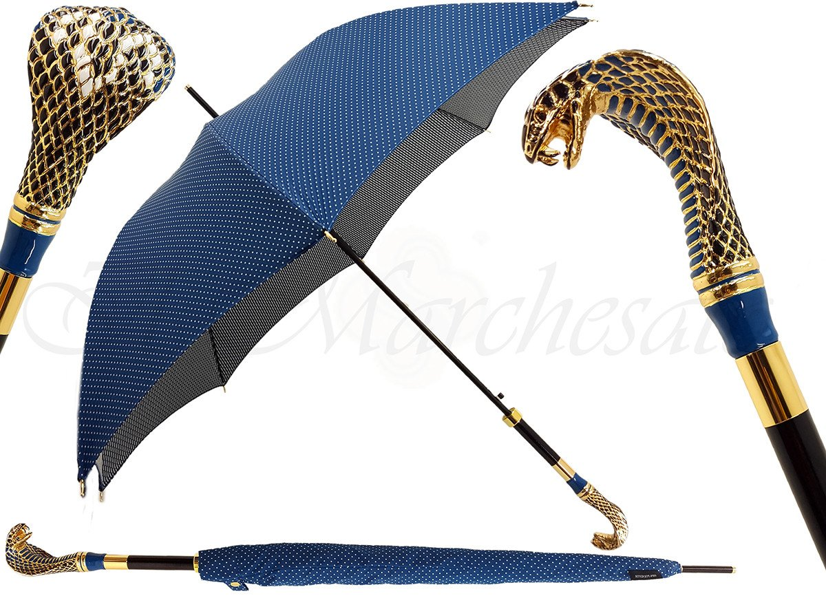 Luxurious Enameled Snake Luxury man's Umbrella