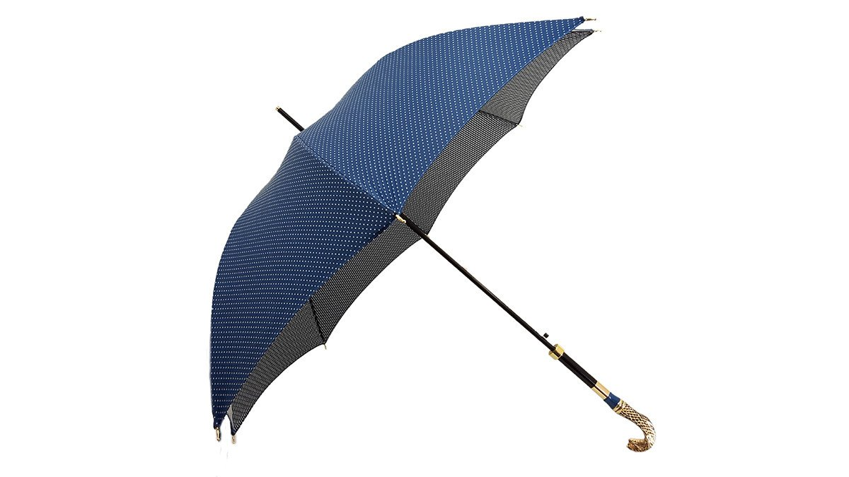 Luxurious Enameled Snake Luxury man's Umbrella - il-marchesato