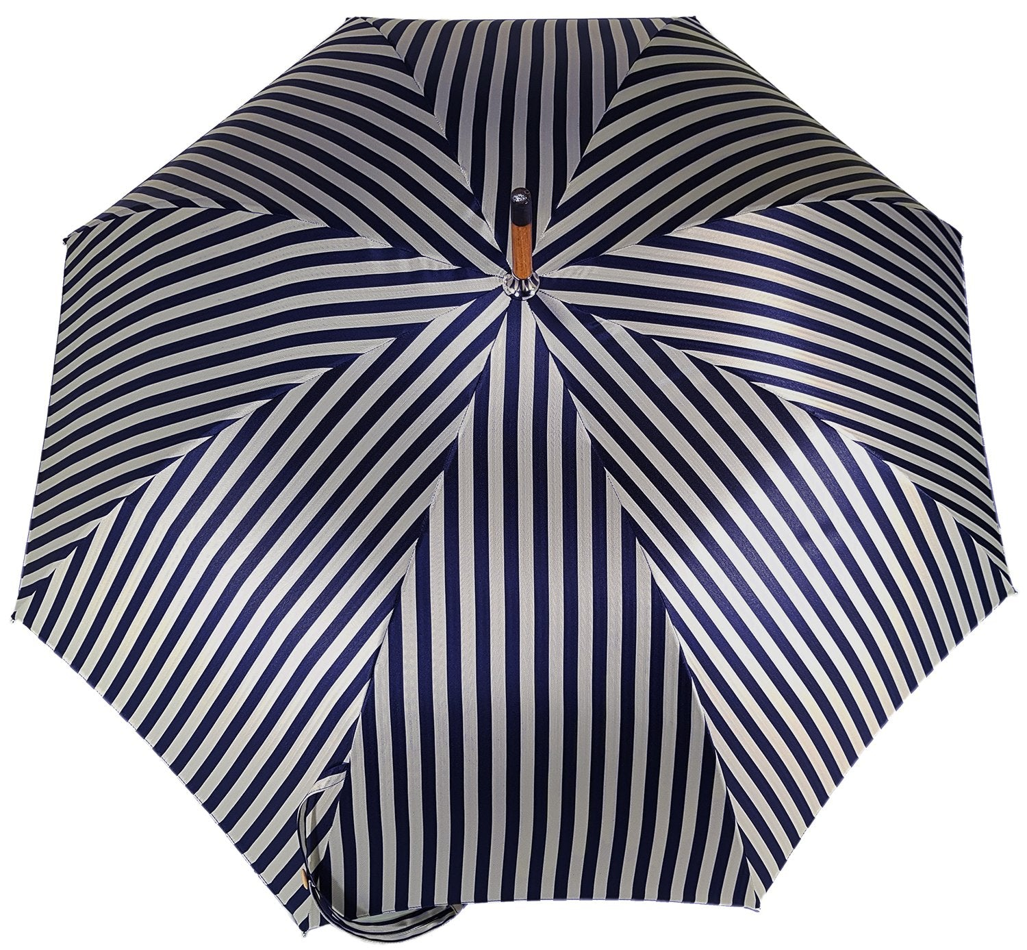 Raddoppia Cloth Men's Umbrella - Blue Stripped Design - il-marchesato