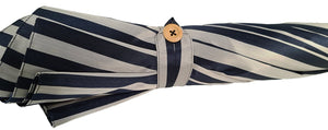 Doppio Cloth Men's Umbrella - Blue Striped Design - il-marchesato