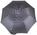 Carica l'immagine nel visualizzatore di Gallery, Double Cloth Men's Umbrella - Blue Striped Design - il-marchesato