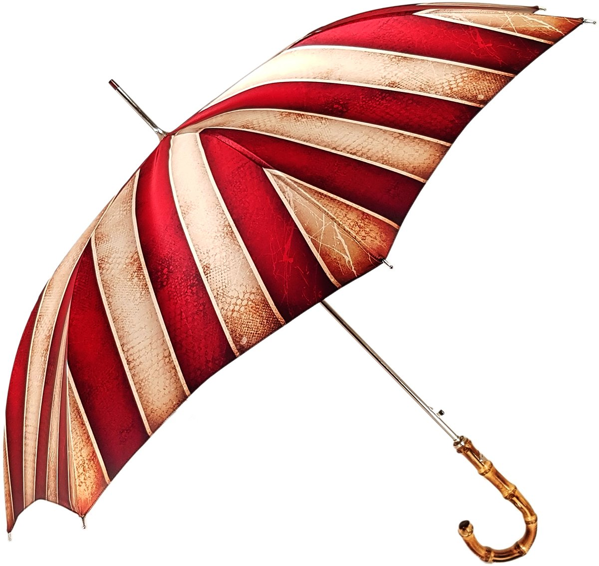 Classic Striped Men's Umbrella - Bamboo Handle - New Exclusive Design - il-marchesato