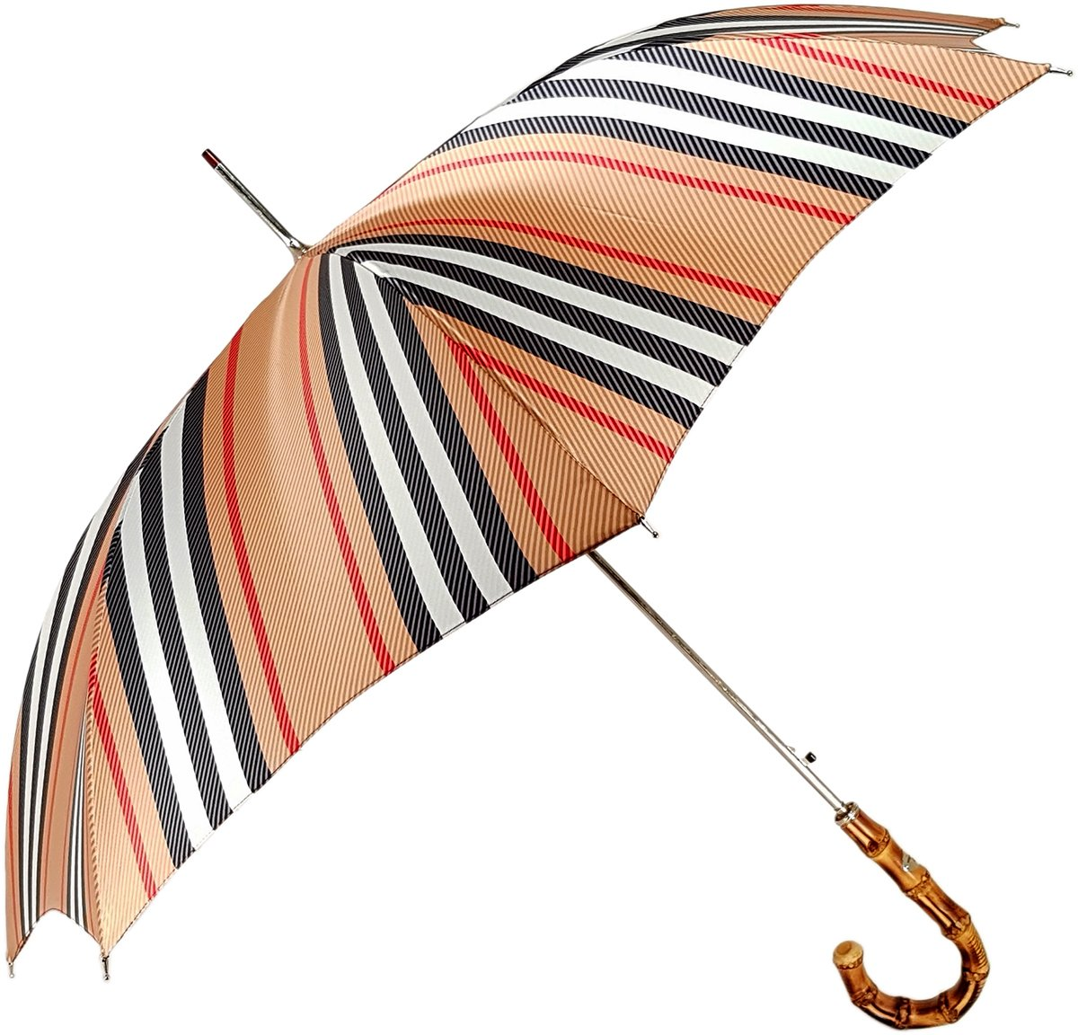 Classic Striped Men's Umbrella - Bamboo Handle - il-marchesato