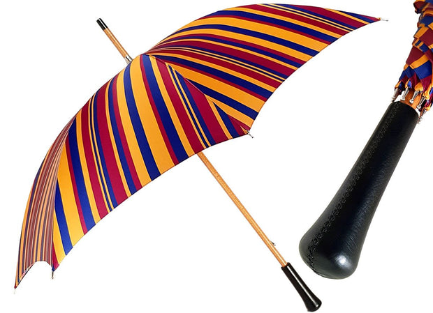 Handcrafted Multi-Color Striped Umbrella - il-marchesato