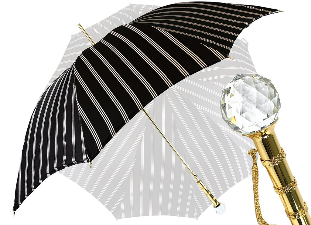 Luxury men umbrella Swarovski handle