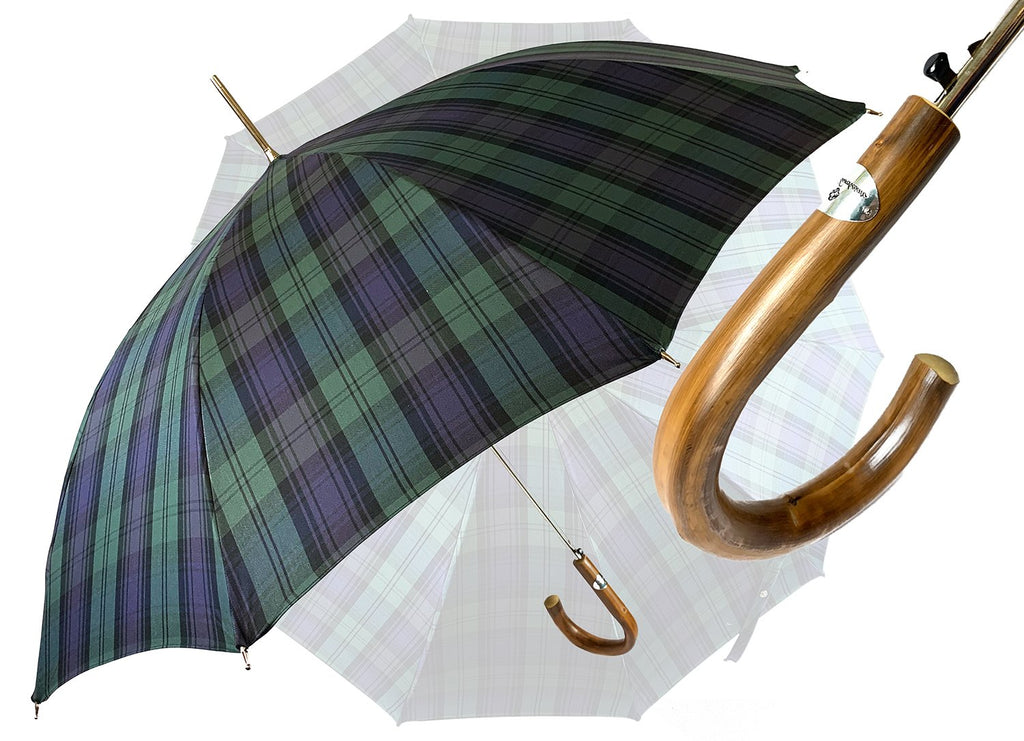 Men's sporty Tartan umbrella - IL MARCHESATO LUXURY UMBRELLAS, CANES AND SHOEHORNS