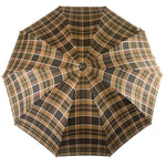 Load image into Gallery viewer, Brown Men's sporty Tartan umbrella - IL MARCHESATO LUXURY UMBRELLAS, CANES AND SHOEHORNS