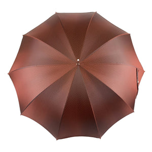 Elegant Burgundy Dot's Umbrella - IL MARCHESATO LUXURY UMBRELLAS, CANES AND SHOEHORNS