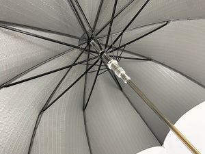 Gray striped umbrella il Marchesato - IL MARCHESATO LUXURY UMBRELLAS, CANES AND SHOEHORNS