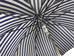 Load image into Gallery viewer, Elegant striped Blue and gray umbrella - Exclusive ilMarchesato - IL MARCHESATO LUXURY UMBRELLAS, CANES AND SHOEHORNS