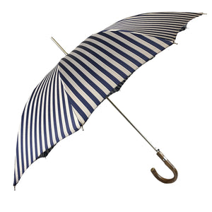 Elegant striped Blue and gray umbrella - Exclusive ilMarchesato - IL MARCHESATO LUXURY UMBRELLAS, CANES AND SHOEHORNS