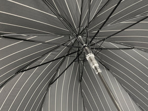 Smoke Gray with white stripes Umbrella - IL MARCHESATO LUXURY UMBRELLAS, CANES AND SHOEHORNS