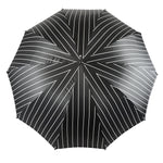 Load image into Gallery viewer, Smoke Gray with white stripes Umbrella - IL MARCHESATO LUXURY UMBRELLAS, CANES AND SHOEHORNS