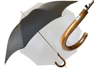 Original 3-color Men's Black with Yellow and Blue stripes - IL MARCHESATO LUXURY UMBRELLAS, CANES AND SHOEHORNS