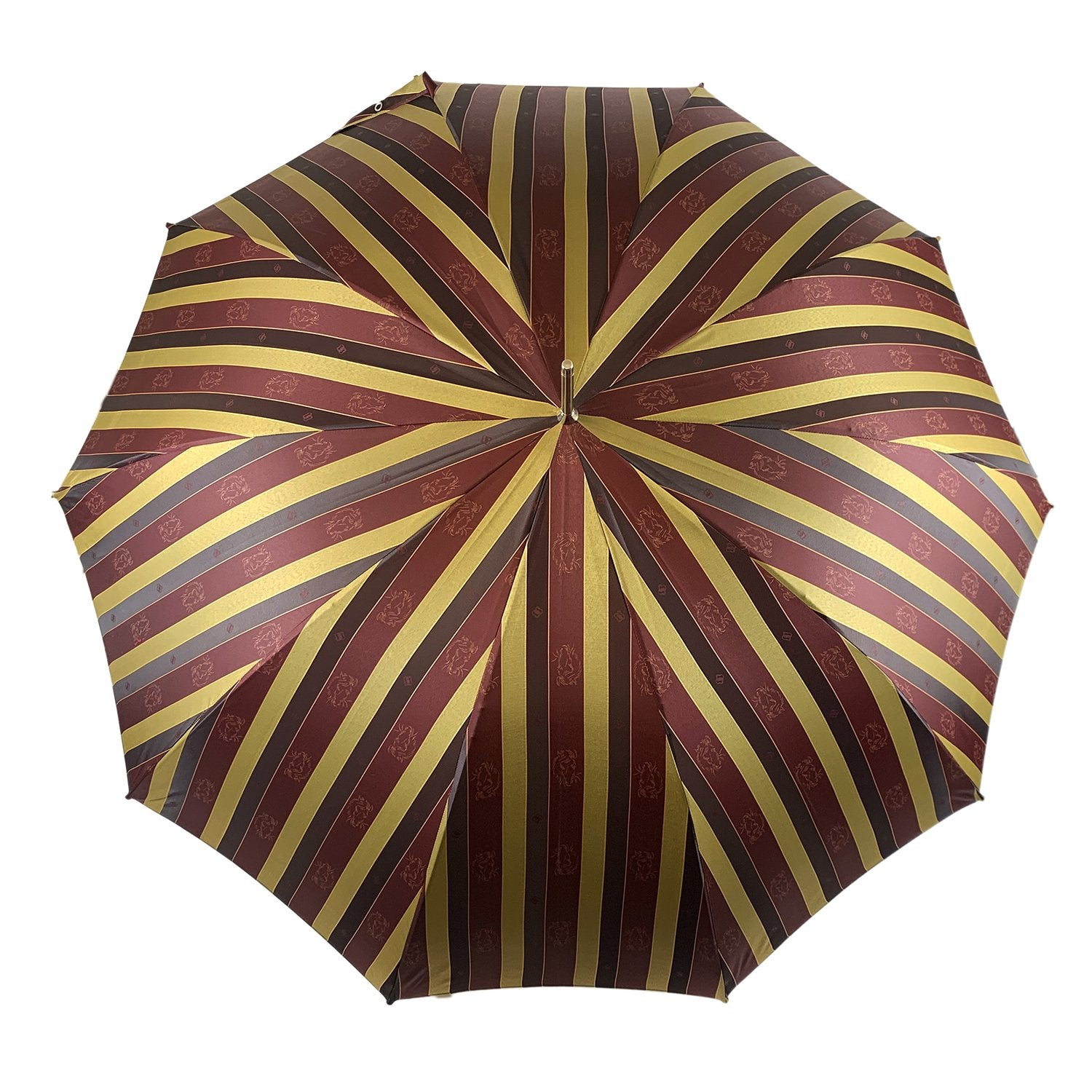 Exclusive Jacquard with embroidered Horses - IL MARCHESATO LUXURY UMBRELLAS, CANES AND SHOEHORNS