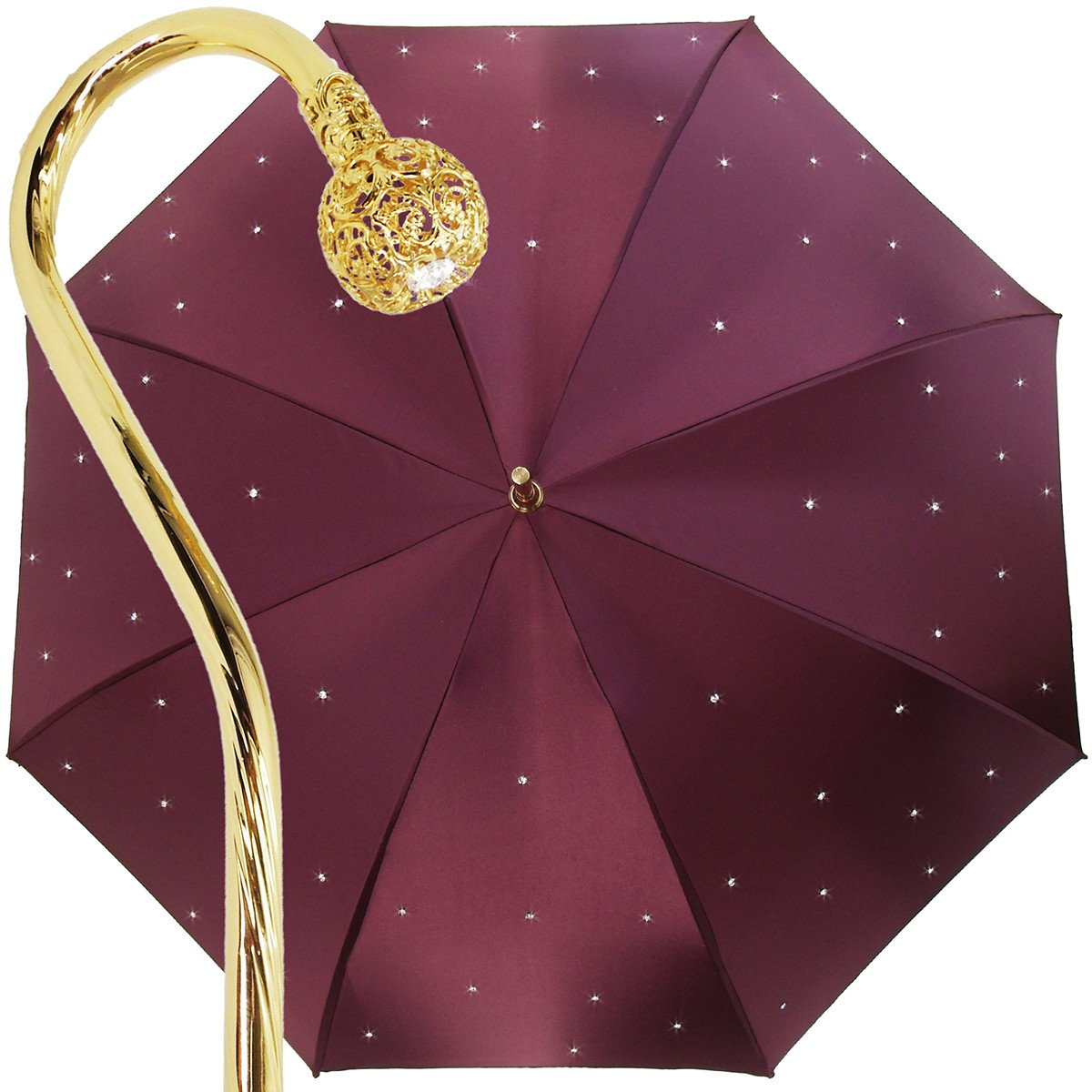 FASHION DOUBLE CLOTH BURGUNDY CRYSTALS UMBRELLAS great gift idea