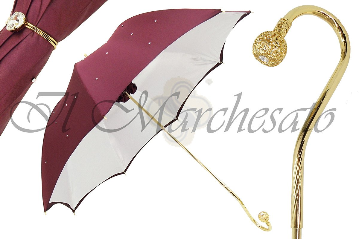 BEST LUXURY DOUBLE CLOTH CRYSTALS UMBRELLAS