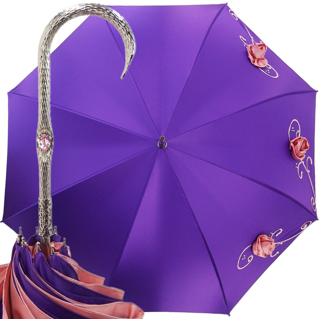 Double Cloth Purple Umbrella - Italian Elegance - il-marchesato
