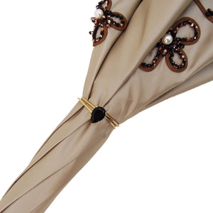Omicidio avorio Umbrella - Jewel con le perle di cucitura a mano - Double Cloth - il-marchesato