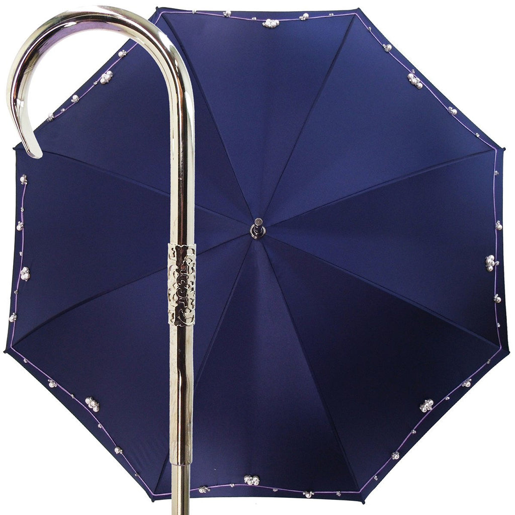 Handmade Luxury Jewel Pearl Women's Fashion Umbrella - il-marchesato