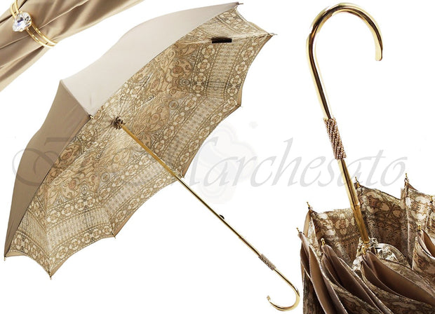 luxury italian umbrella double cloth baroque design