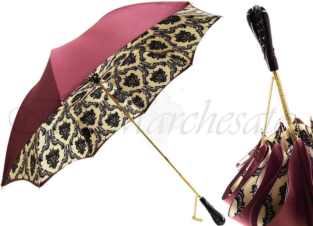 DOUBLE CLOTH WOMEN'S UMBRELLA BURGUNDY COLOR
