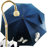 Load image into Gallery viewer, Fantastic Women's Umbrella with Embroidered Butterflies - il-marchesato