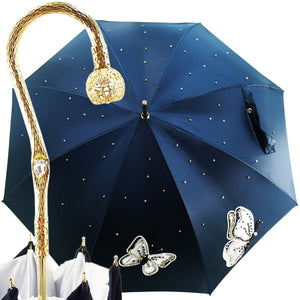 Fantastic Women's Umbrella with Embroidered Butterflies - il-marchesato