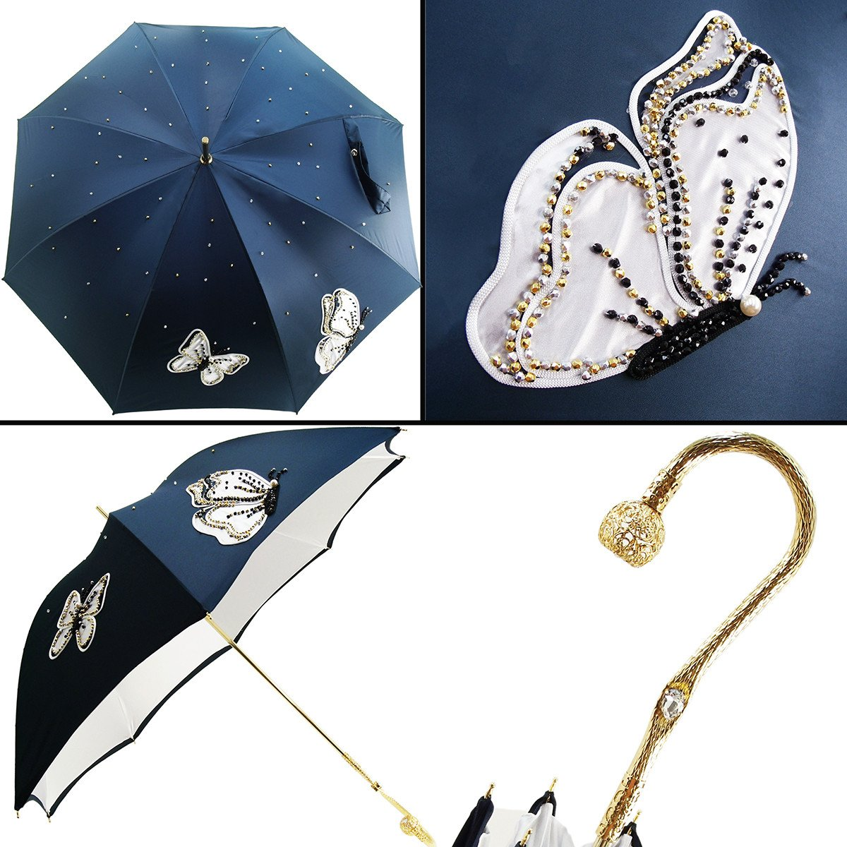 LUXURY EMBROIDERED DOUBLE COTH UMBRELLAS